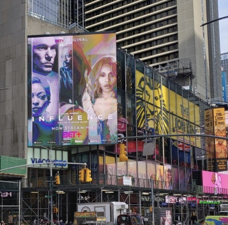 Influence Times Square Billboard